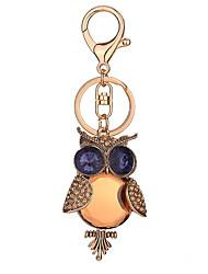 Key Chain Bird Key Chain Blue Orange Metal