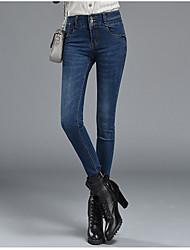 Sign Spring new female Korean Slim jeans feet pencil pants