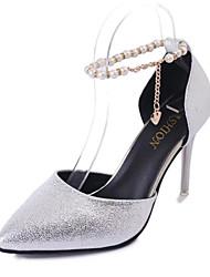 Da donna Sandali Club Shoes PU (Poliuretano) Primavera Estate Formale Serata e festa Club Shoes Perle di imitazione Fibbia A stilettoOro