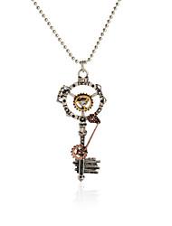 Vintage Pendant Necklace Gear Charm Steampunk Necklaces-Skeleton Key