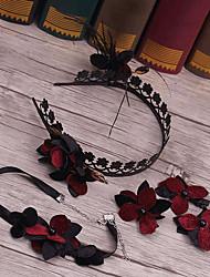 Сплав имитация жемчужина ткань головной убор-свадьба специальный случай случайные наружные повязки цветы 3 штуки