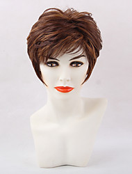 Fluffy  Comfortable  Mixed Color  Short Hair Synthetic Wig