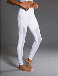 Mulheres Corrida Meia-calça Anti-Irradiação Respirável Compressão Redutor de Suor Verão Ioga Corrida Náilon Chinês ApertadoEspetáculo