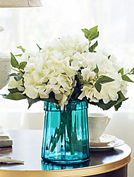 1 Branch Dried Flower Hydrangeas Tabletop Flower Artificial Flowers