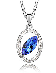 Women's Pendant Necklaces Crystal Round Chrome Unique Design Fashion Jewelry For Engagement Gift Daily