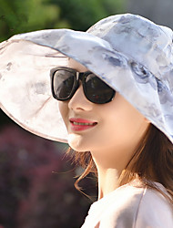 Sun Hat Summer Flowers Big Hat Cloth Sunscreen Sun Cap for Lady Women