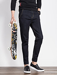 Four Seasons jeans influx of men Slim casual men's long pants male feet