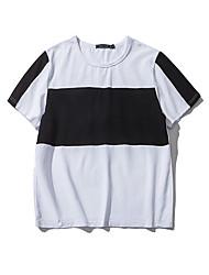 Schlanke koreanische Version der großen gestreiften Männer&# 39; s Kurzarm T-Shirt Aberdeen Wind