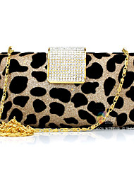 L.WEST Women's fashion leopard diamond Dinner Bag hand bag