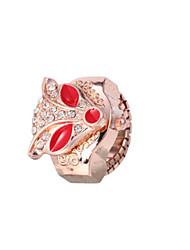 Masculino Relógio Anel Quartzo Lega Banda Corujas Dourada Preto Azul Claro Vermelho Rosa claro