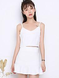 знак летом новый корейский женской талии камзол костюм был тонкий пакет хип юбка часть