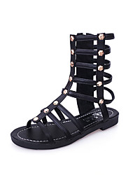 Women's Sandals Spring Summer Comfort PU Casual Low Heel Zipper