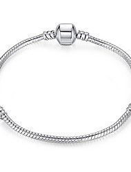 Exquisite Simple Silver Plated Snake Chain & Link Bracelets Christmas Gifts Jewellery for Women Accessiories