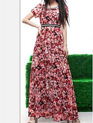 Les États-Unis fei nouvelle mariée en mousseline de soie robe en mousseline de soie robe roses spéciales