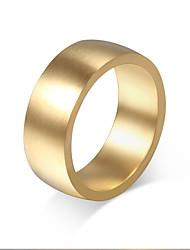 Ring Kreis Stahl Runde Form Gold Schmuck Für Alltag 1 Stück