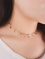Women's Choker Necklaces Pendant Necklaces Crystal Jewelry Crystal Acrylic CopperDangling Style Pendant Tassel Acrylic Tassels