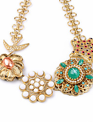 Women's Strands Necklaces Flower Chrome Unique Design Luxury Jewelry For Gift Valentine 1pc