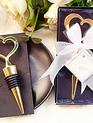Heart of Gold Bottle Favor Bottle Stopper Beter Gifts® Wedding Tea Party Favor