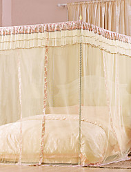 Korean Palace Floor-standing Three-door Stainless Steel Bold Pastoral Princess Bed Nets Encryption