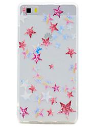 Pour Transparente Motif Coque Coque Arrière Coque Forme Géométrique Flexible PUT pour HuaweiHuawei P10 Plus Huawei P10 Huawei P8 Lite