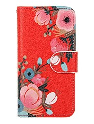 For Apple iPhone 6s 6 Plus iphone SE 5s 5 The Flowers Pattern Flip PU Leather Case