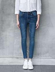 Знак талия весна корейский торговый колготки джинсы женщина была тонкие брюки ноги карандаш брюки брюки