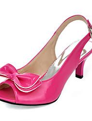 Women's Sandals Spring Summer Fall Slingback PU Office & Career Party & Evening Dress Stiletto Heel Bowknot
