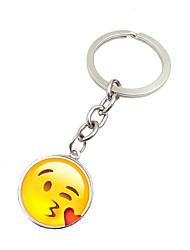 Schlüsselanhänger Kreisförmig Schlüsselanhänger Silber Metall
