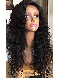 100% de cabelo virgem humano brasileira lace wig lace frente peruca de laço wavy natural wavy glueless com cabelo do bebê