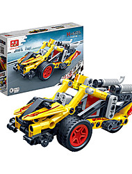 Children 's Puzzle Assembled Building Blocks Toys Hi - Tech Pull Back Car Racing Model 6967