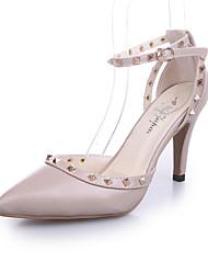Women's Sandals Summer T-Strap Leatherette Party & Evening Dress Casual Stiletto Heel Rivet Walking
