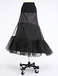 Slips A-Line Slip Tea-Length Short-Length 2 Taffeta Tulle White Black Red