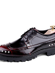 Men's Oxfords Spring Fall Gladiator Creepers Formal Shoes Comfort Bullock shoes Leather Wedding Outdoor Office & Career Party & Evening