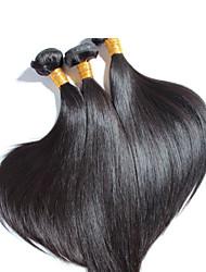 comprimento mix cabelo brasileiro preço barato três feixes Mechas brasileiras, barato brasileira reta tecelagem de cabelo humano
