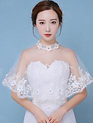 Women's Wrap Ponchos Cotton Wedding Lace