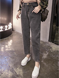 Sign gray sepia new large size AA loose waist jeans feet was thin female harem pants collapse