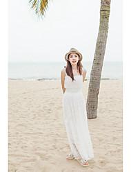 2017 printemps et en été bohème bretelles de soutien-gorge fée robe de plage de la station robe de dentelle sexy