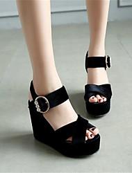 Damen-Sandalen-Lässig-PU-Keilabsatz-Mary Jane-