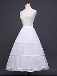 Unterhosen A-Linie Abendkleid Wadenlänge 1 Polyester Weiß Schwarz