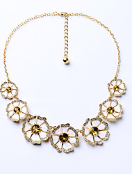 Women's Strands Necklaces Flower Chrome Petals Cute Style Jewelry For Birthday Thank You Christmas Gifts 1pc