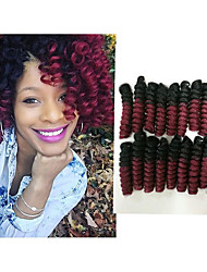 New style Curlkalon crotchet braid hair bouncy twist saniya curls free hook gift Synthetic  braiding haar extension 20roots/pack 5packs make head