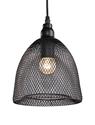 Max 60W Vintage Black Metal Mesh Loft Pendant Lights Living Room Dining Room Hallway Cafe Bars Clothing Store decoration Light Fixture