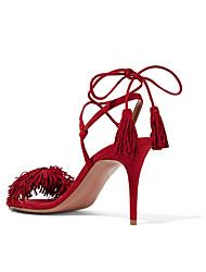 Damen-High Heels-Lässig-PUKomfort-Rot