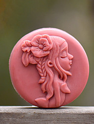 Long Hair Girl Shape Soap Mold DIY Silicone Soap Mold Handmade Soap Salt Carved DIY Silicone Food Grade Silicone Mold