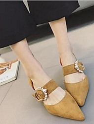 Women's Heels Comfort Suede Casual Low Heel