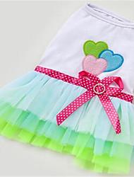 Chien Robe Vêtements pour Chien Printemps/Automne Princesse Mignon Rouge Vert