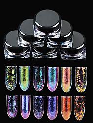 1box Manicure Brocade Powder Super Mirror Optical Chameleon Flash Powder