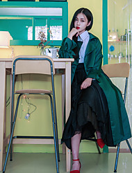 Emerald early autumn new conventional raglan sleeve coat