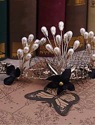 Alliage Imitation de perle Tissu Casque-Mariage Occasion spéciale Décontracté Extérieur Tiare Serre-tête 1 Pièce