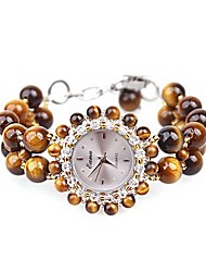 Women's Fashion Watch Quartz Jade Band Brown